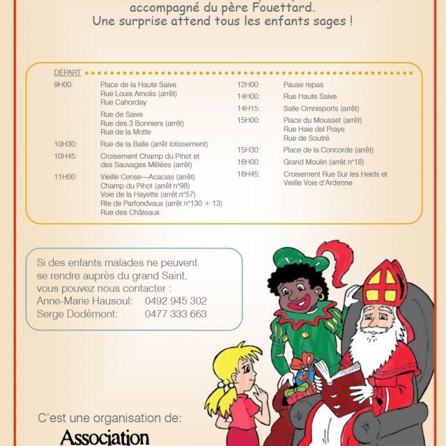 Saint-Nicolas sera à Saive le samedi 2 décembre